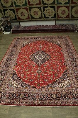 Stunning Traditional S Antique Red Kashan Persian Rug Oriental Area Carpet 10X13