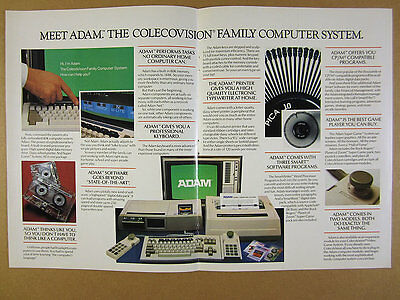 1983 Coleco Adam ColecoVision Family Computer System photo vintage print Ad