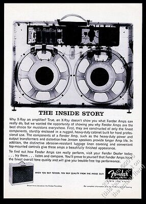 1959 Fender amp amplifier x-ray photo vintage print ad