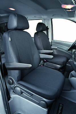 Fully tailored seat covers for Mercedes Vito Bus, anthrazite - 2003 - 2013