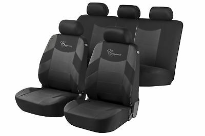 Elegance Car Seat Cover - Grey & Black For Mercedes C-CLASS Estate 2007 to 2014