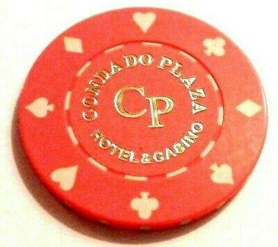 CONDADO PLAZA Casino ORANGE Roulette Poker Chip SAN JUAN Puerto Rico Bud Jones