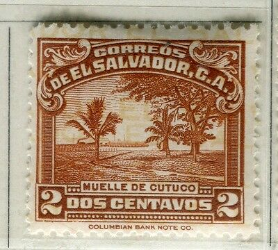 EL SALVADOR;  1935 early pictorial issue Mint hinged 2c. value
