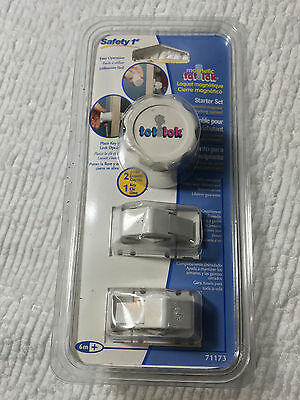 NEW Safety 1st Magnetic Tot Lok Starter Set 71173 2 Locks 1 Key FREE SHIPPING