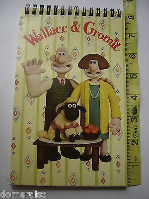 Wallace & Gromit Shaun Wendolene Notebook Flip Top  Spiral Htf  New 1996 Collect