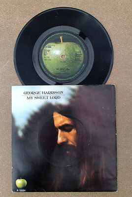 "George Harrison "" My Sweet Lord ""uk Vrare Cbs Contract In Super Head Sleeve 45"