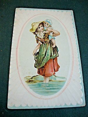 Victorian Trade Card For Woolson Spice Co Adv A Free Pocket Knife W/lion Coffee