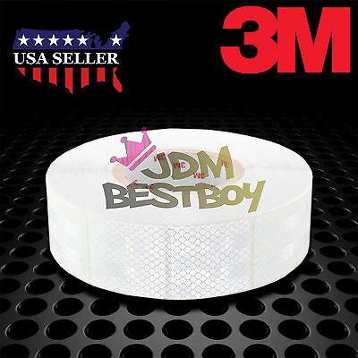 """3M Diamond Grade White Conspicuity Tape 2"""" x 2"""" CE Approved Reflective Safety"""