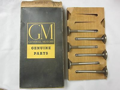 49 50 51 52 53 Olds 303 Ci 54 Olds 324 Ci Nos Gm Set Of 6 Exhaust Valves 564839