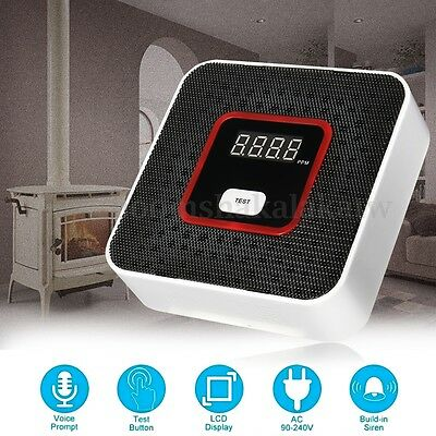 LCD Combustible Propane Natural Gas Leak Sound Alarm Sensor Tester Detector Home
