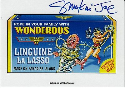 2017 Wacky Packages 50Th Anniversary Artist Autograph Smokin Joe Wonderous