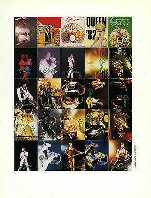 Queen 1994 Rock Fantasy Commemorative Stamps Sheet Freddie Mercury