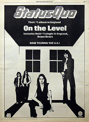 Status Quo Vintage & Rare 1970s- Current Promotional Ads Collection Rossi Parfit