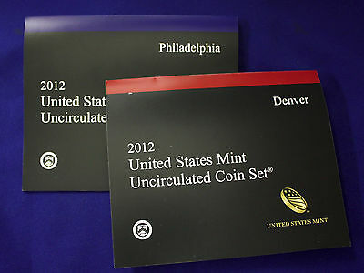 "2012 U.S. Mint Set. Complete. 28 Total Coins 14 each from ""P"" and ""D"" Mints."