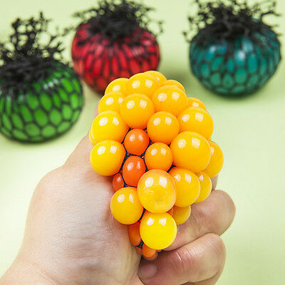 Rainbow Squishy Mesh Ball Squeeze Toy Stress Office Secret Relieve Emotions Ball