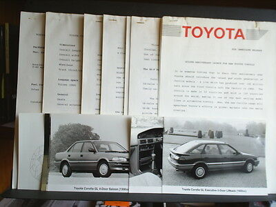 Press Release For The Golden Anniversary Launch For New Toyota Corolla 1987