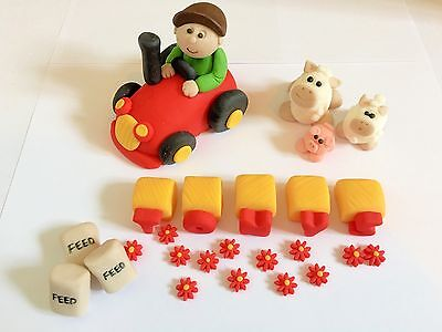 Edible farm cake toppers tractor, animals etc