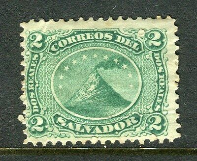 EL SALVADOR;  1867 early classic issue Mint hinged 2c. value