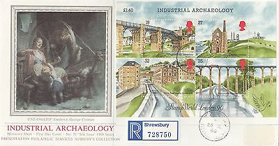 (99350) CLEARANCE GB PPS Sothebys FDC Industrial Archaeology Ironbridge CDS 1989