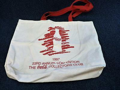 Coca Cola 1997 23rd Annual Convention Collectors Club Tote Bag (pt753)