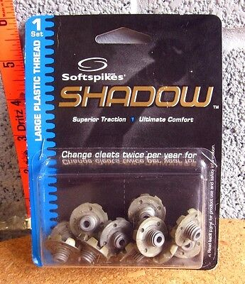 SHADOW Soft Spikes golf traction NWT golfing cleats 2000 twist