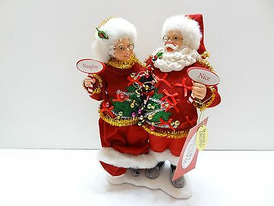 NIB Dept 56 Possible Dreams Clothtique Sweater Set Mr Mrs Santa Claus 4046514