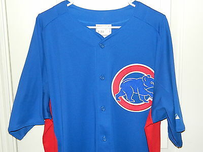pretty nice 02e0d 68592 CHICAGO CUBS MLB Majestic NWT Alternate Jersey Blue Cool ...