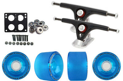Paris 180 Black Longboard Trucks Wheels Package Bigfoot 70mm Pathfinders Blue