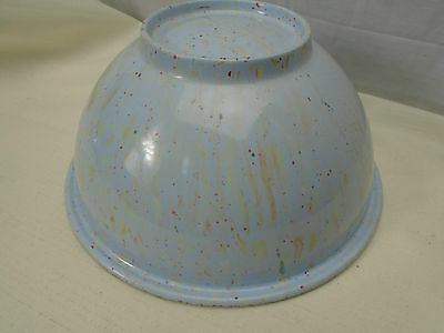 Vintage Retro TEXAS WARE Mixing Bowl #118 Pale Blue Multi Splatter Speckle