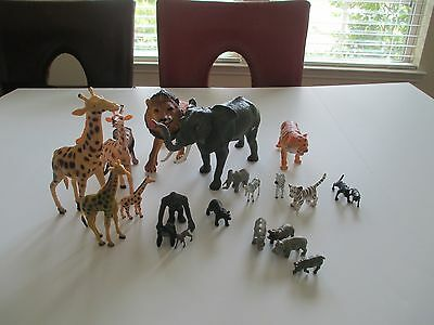 Lot 22 Zoo Animal Lot Anky Large Elephant and Lion Clean Ready For Play