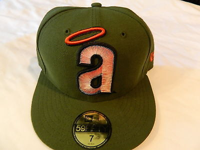 b05c61fc274 Los Angeles Angels MLB New Era 59Fifty 7 1 2 Green Cap Hat NWT Cooperstown