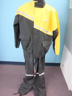 Set of Nelson AX-1 Rigg Motorcycle Riding Rain Suit Coat Jacket + Pants Medium