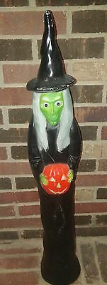 "HTF Vintage 36"" Tall Wicked Witch BLOWMOLD Halloween YARD DECOR Don Featherstone"