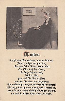 Muttertag AK 1915 Mutter Bild und Gedicht Mother's Day 1704140
