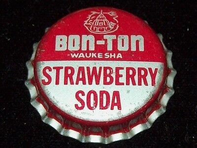Vintage 1950's Bon-Ton Strawberry Unused Soda Pop Bottle Caps Cork