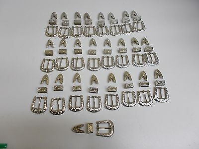 "Sb-10 Lot Of 25 3 Piece Set 1.5"" Buckle For .75"" Belt Stock Western Craft"