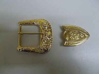 "SB-11 LOT OF 25 2 PIECE SET Gold 2.5"" BUCKLE FOR 1.5"" BELT STOCK WESTERN CRAFT"