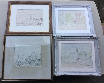 Set Of 4 Taylor Original Works 1958 Pen,pencil