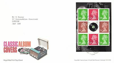 (99442) CLEARANCE GB FDC Classic Album Covers Booklet Pane Tallents 7 Jan 2010