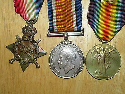 WW1 British Group Medal 1914-1915 Star Trio King's Royal Rifle Corps