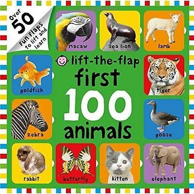 First 100 Lift The Flap Animals; Hardback Book; Priddy Roger, 9781783410590