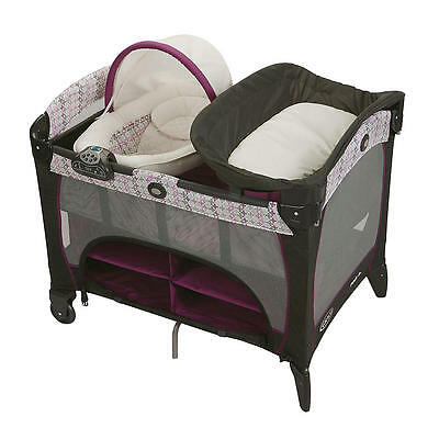 Graco Pack 'n Play Playard With Newborn Napper Station DLX & Changin - Nyssa
