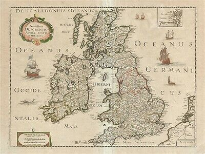 1650 Sanson and Mariette Map of the British Isles
