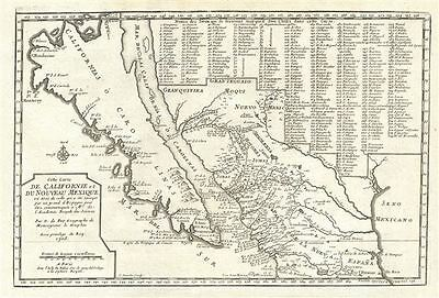 1704 Defer Map of Insular California and Mexico