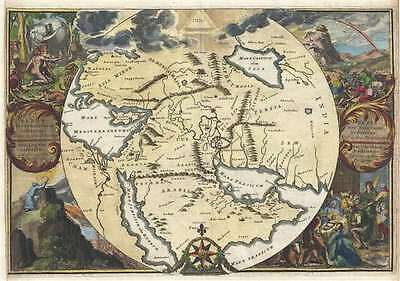 1705 de Hooghe Decorative Map of the Biblical Lands (Middle East)