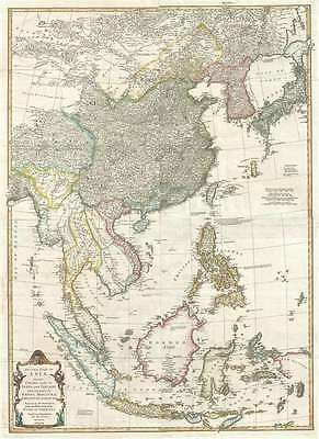 1755 Bolton Map of Southeast Asia, the East Indies, China, Korea, and Japan