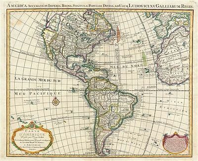 1755 Covens and Mortier Map of America w/  Sea of the West