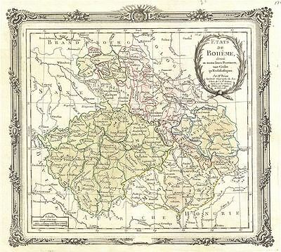 1766 Desnos and Brion Map of Bohemia or Czech Republic