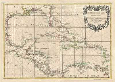 1778 Zannoni Map of Central America and the West Indies (Caribbean)