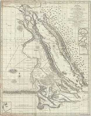 1790 James Bruce Map of Egypt, Abyssinia, and the Red Sea
